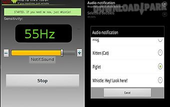 Whistle droid finder