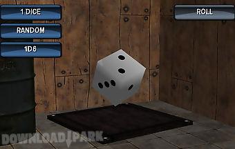 Board dice shaker 3d