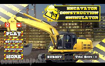 Excavator construction driving