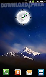 Moon Clock Android Live Wallpaper Free Download In Apk