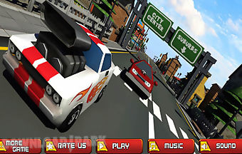 Turbo racing sport car traffic