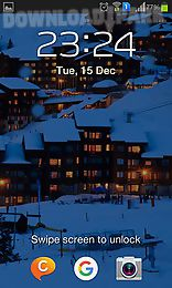 winter night mountains