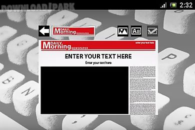 Fake newspaper maker creator Android App free download in Apk