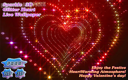Tunnel glitter spark heart 3d Android App free download in Apk