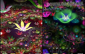 Fantasy flowers live wallpaper