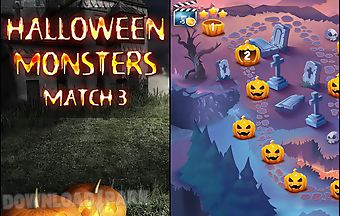 Halloween monsters: match 3