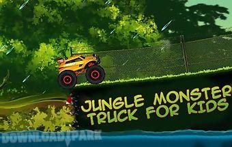 Jungle monster truck for kids