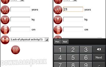 Calorie calculator free