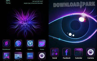 Purple charm go launcher theme