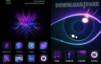Purple charm go launcher theme
