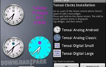 Tensai clock widgets