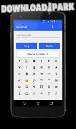 type droid (1000+ symbols)