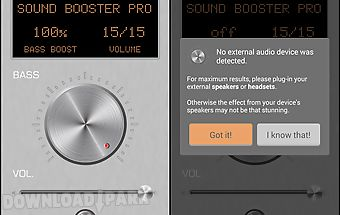 Sound booster pro