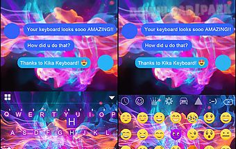 Luminous emoji ikeyboard theme