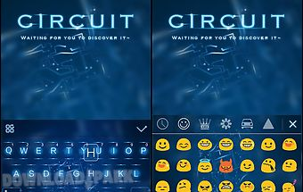 Circuit themekeyboard emoji