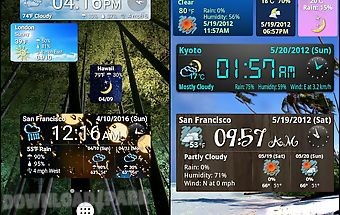 World weather clock widget