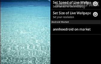 Clear sea live wallpaper