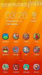 hola day hola launcher theme