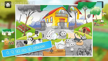 kids farm jigsaw puzzles 🐮