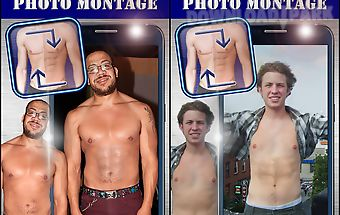 Six pack body photo montage