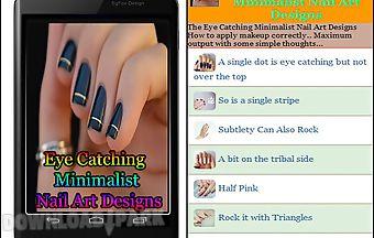 Eye catching minimalist nail art..
