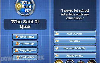 Who said it quiz free