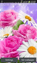 glitter flowers live wallpaper