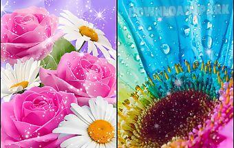 Glitter flowers live wallpaper