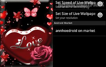 Love heart red live wallpaper