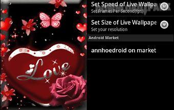 Love heart red live wallpaper