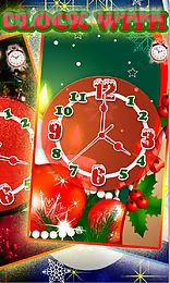 christmas clock with alarm live wallpaper