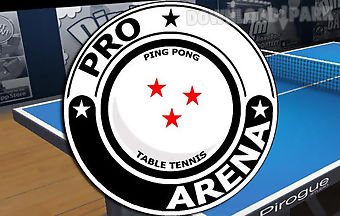 Pro arena: table tennis. ping po..