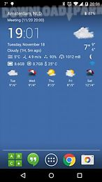 transparent clock weather pro pack