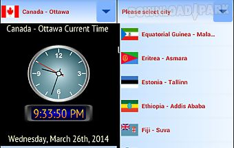 World timezone n weather