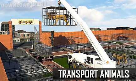 city zoo animals rescue truck