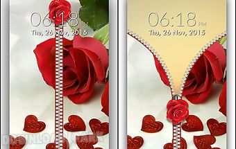 Rose love zipper lock screen