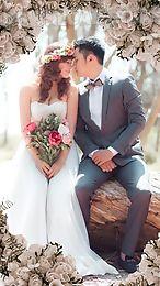wedding couple photo montage