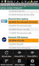 australia tv time