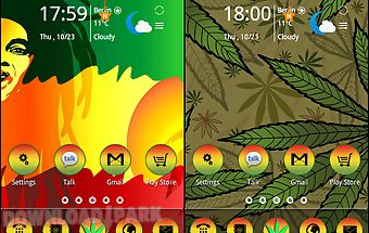 Reggae rasta color theme