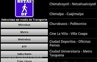 Mexico df's routes