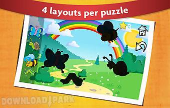 Animal shape puzzles kids 2