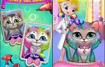 Crazy cat salon-furry makeover