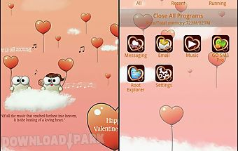 My valentine go launcher theme