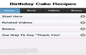 Birthday cake recipes app