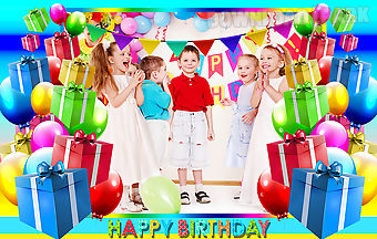 Happy birthday photo frames