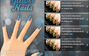 Pretty glitter nails free