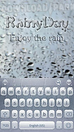 rainy day theme for keyboard