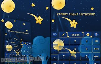 Go keyboard starry night theme