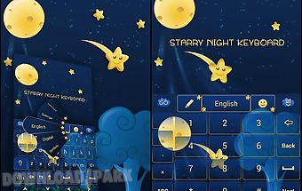 Go keyboard starry night theme