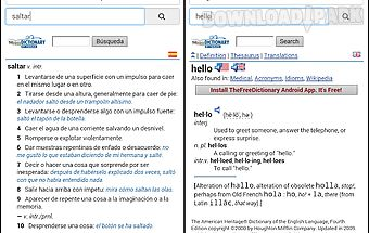 Free spanish dictionary
